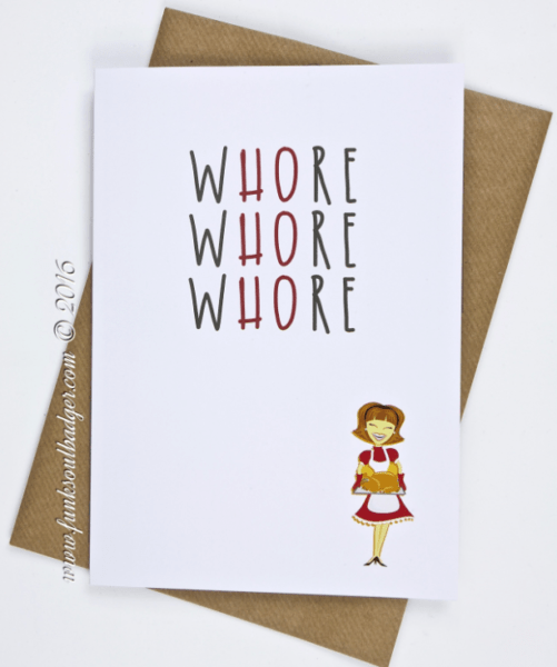Ho Ho Ho funny greeting card